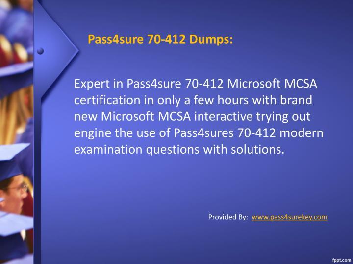Pass4sure 70 412 dumps