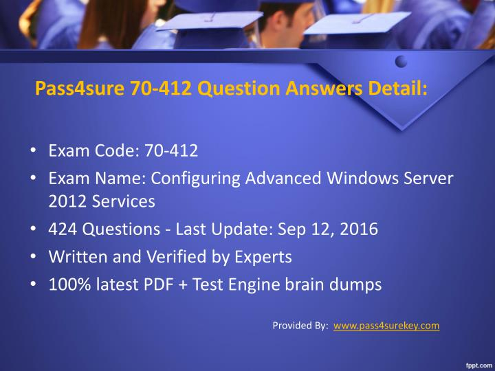 Pass4sure 70 412 question answers detail