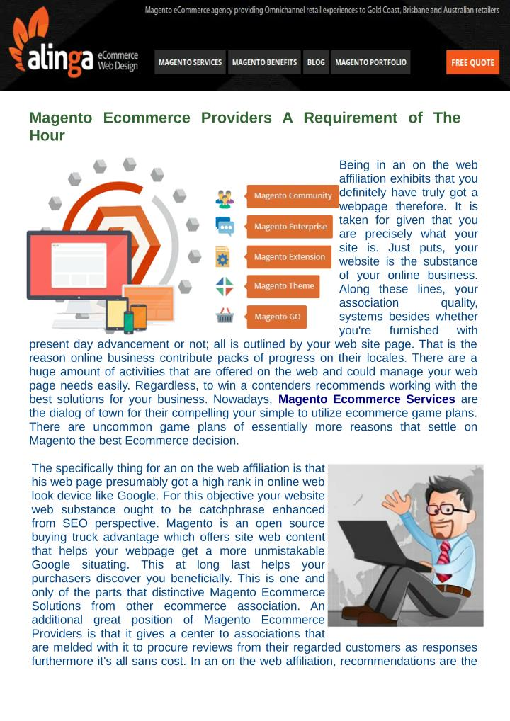 Magento  Ecommerce  Providers  A Requirement  of  The