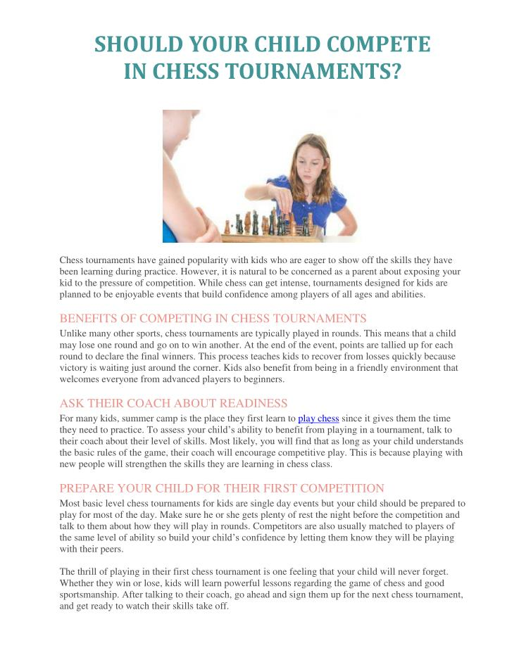 SHOULD YOUR CHILD COMPETE