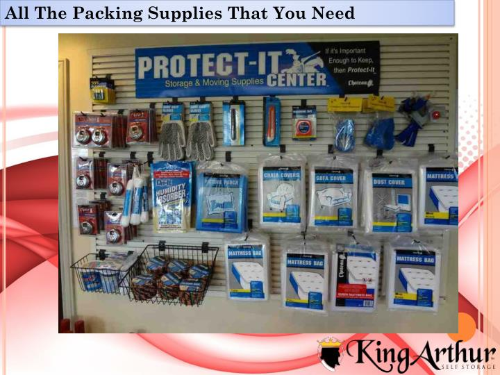 All The Packing Supplies That You Need