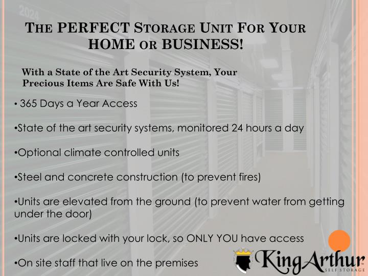 The perfect storage unit for your home or business