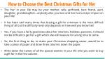 how to choose the best christmas gifts for her