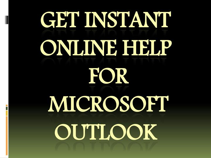 Get instant online help for microsoft outlook