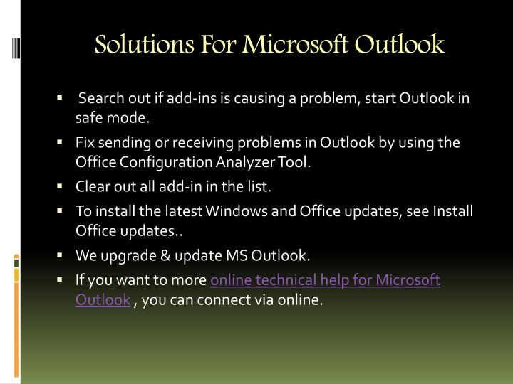 Solutions For Microsoft Outlook