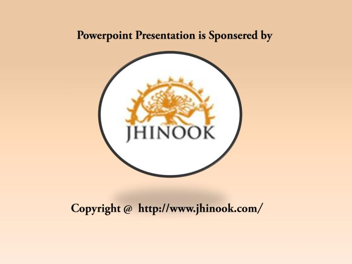 Powerpoint Presentation is Sponsered by