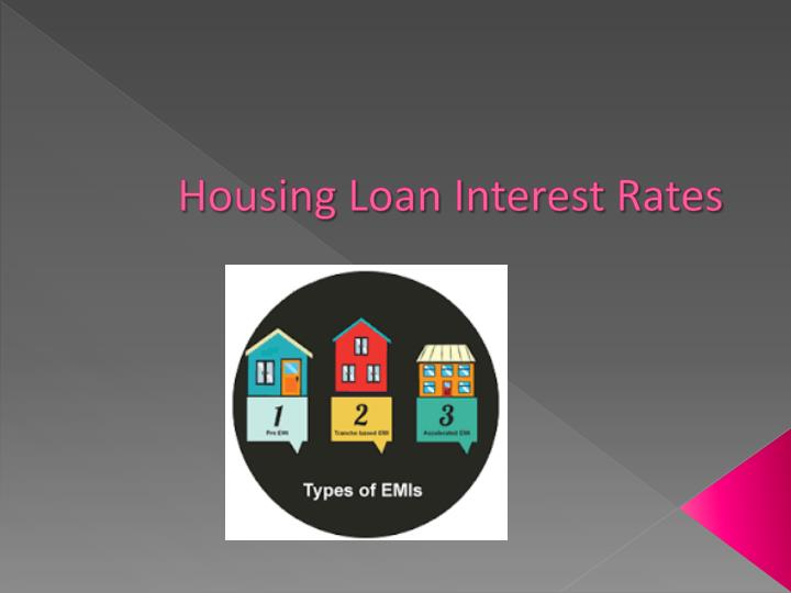 Housing loan interest rates