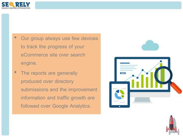 Our group always use few devices to track the progress of your eCommerce site over search engine.