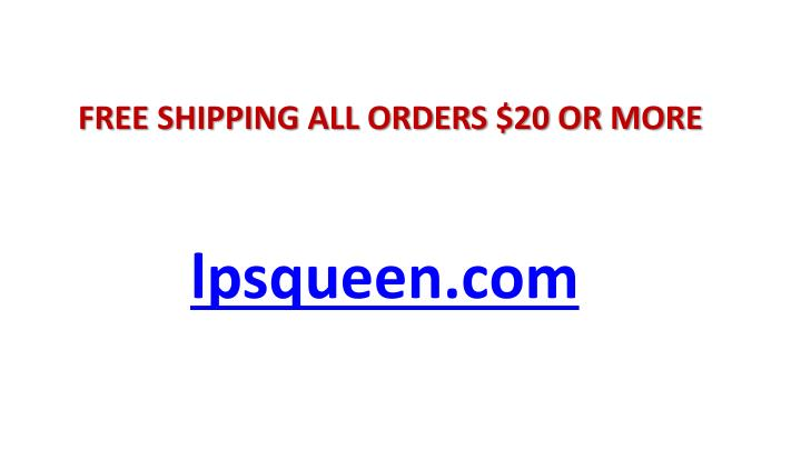 FREE SHIPPING ALL ORDERS $20 OR MORE