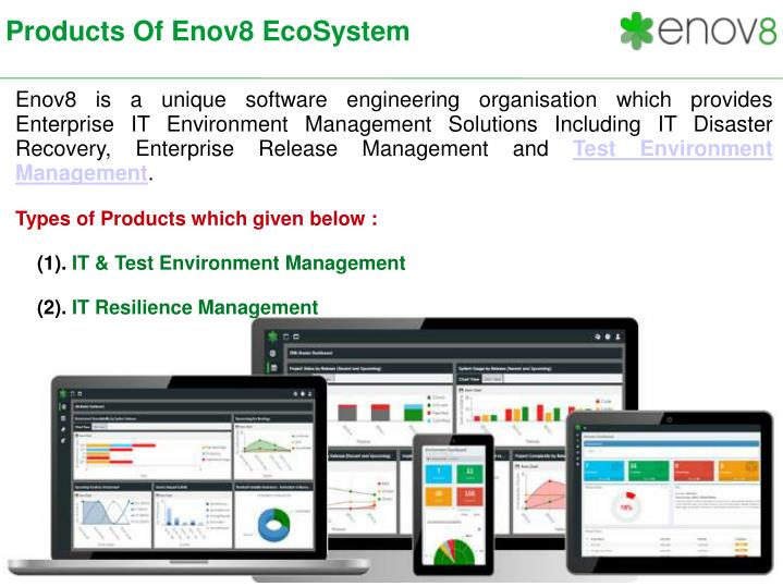 Products of enov8 ecosystem