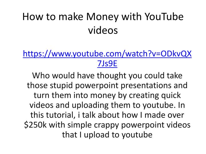 how to make money with youtube videos n.