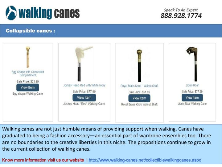 Collapsible canes :
