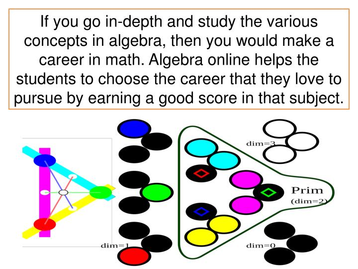If you go in-depth and study the various concepts in algebra, then you would make a career in math. A