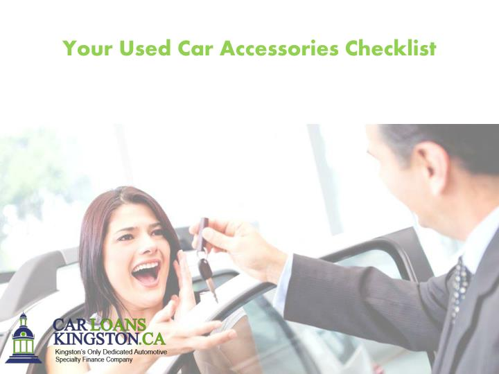 Your Used Car Accessories Checklist