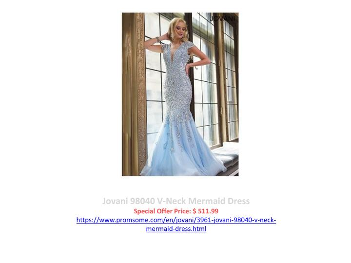 Jovani 98040 V-Neck Mermaid Dress