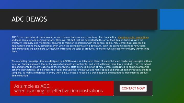 Adc demos1