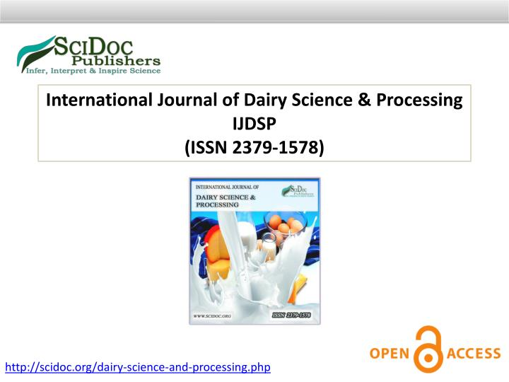 International Journal of Dairy Science & Processing