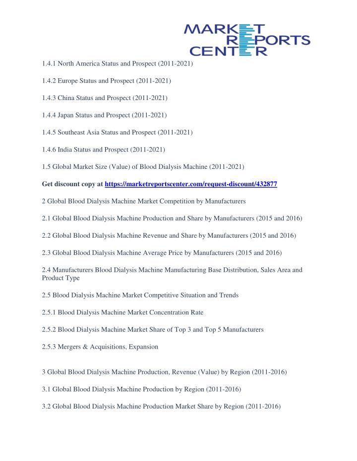 1.4.1 North America Status and Prospect (2011-2021)
