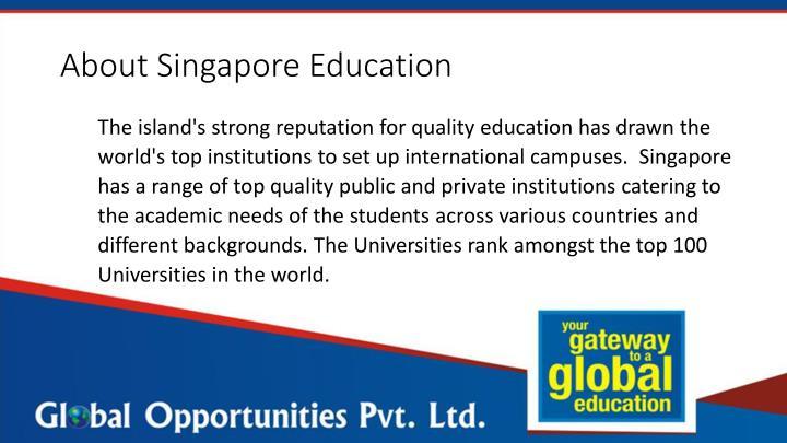 About Singapore Education
