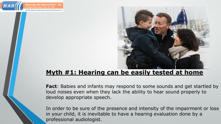 Myth #1: Hearing can be easily tested at home