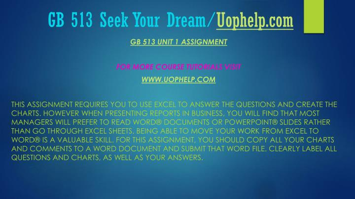 Gb 513 seek your dream uophelp com1