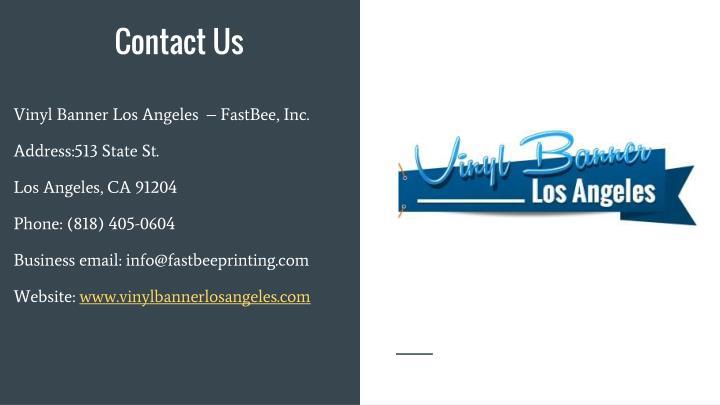 Vinyl Banner Los Angeles  – FastBee, Inc.