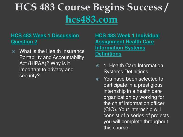 Hcs 483 course begins success hcs483 com2