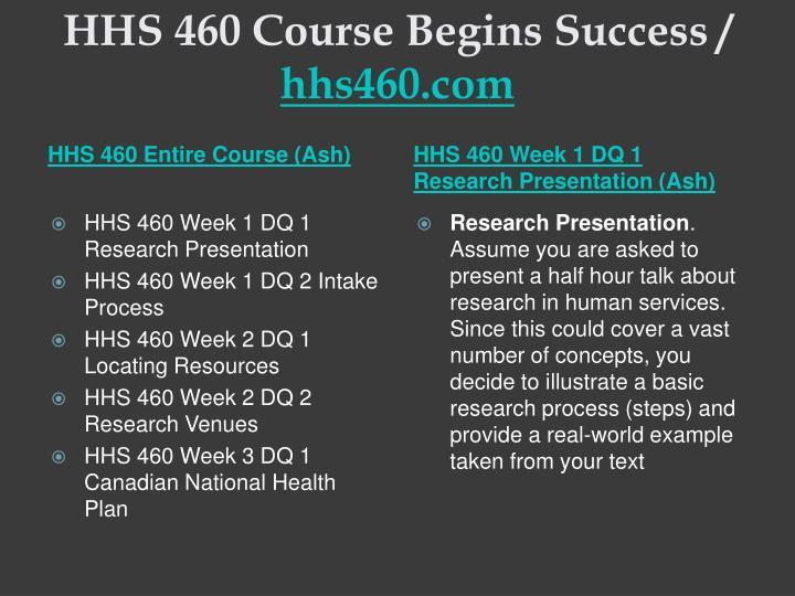 Hhs 460 course begins success hhs460 com1