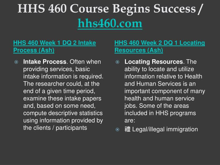 Hhs 460 course begins success hhs460 com2