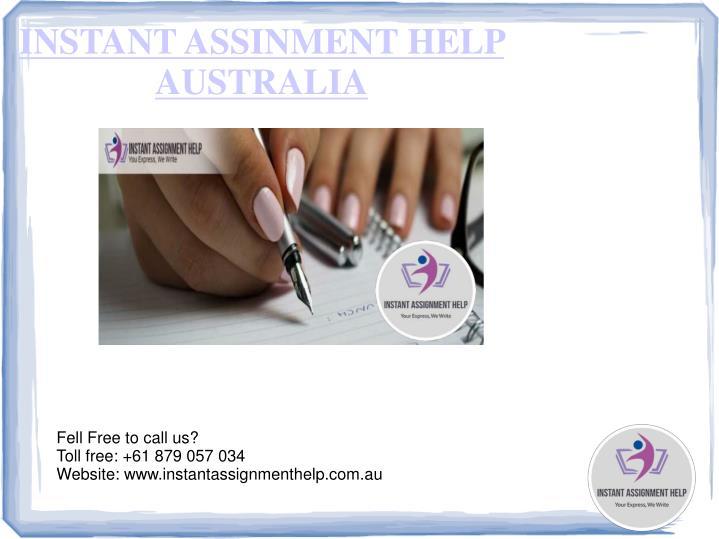 INSTANT ASSINMENT HELP AUSTRALIA
