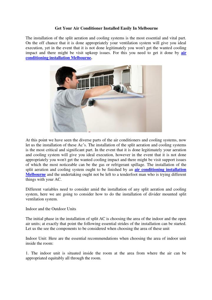 Get Your Air Conditioner Installed Easily In Melbourne