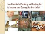 trust accolade plumbing and heating inc to become your surrey plumber today