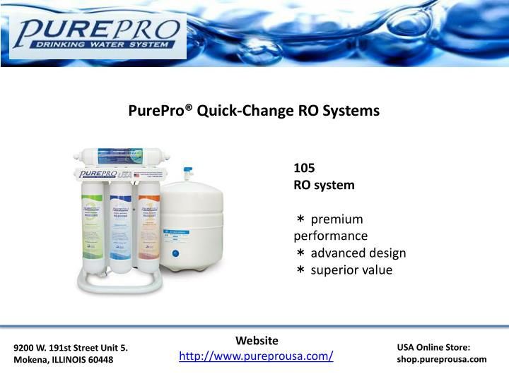 PurePro® Quick-Change RO Systems