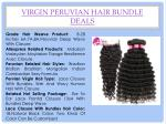 virgin peruvian hair bundle deals