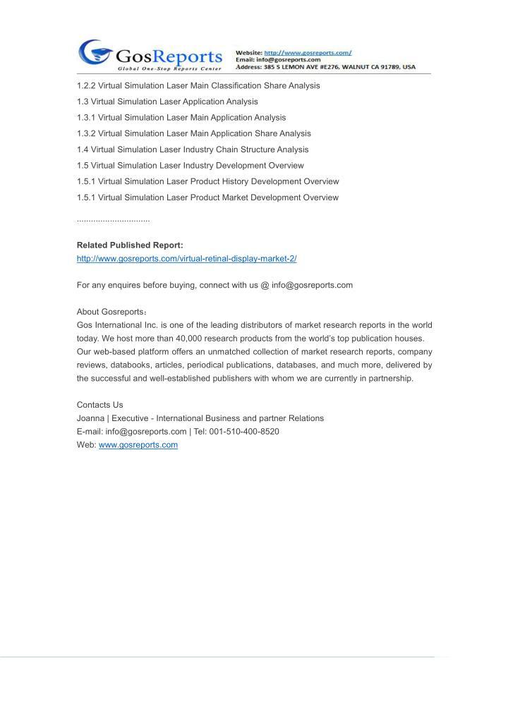 1.2.2 Virtual Simulation Laser Main Classification Share Analysis