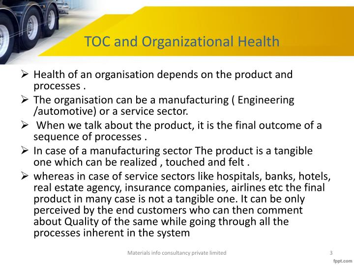 TOC and Organizational Health