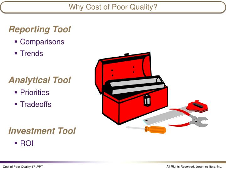 Why Cost of Poor Quality?
