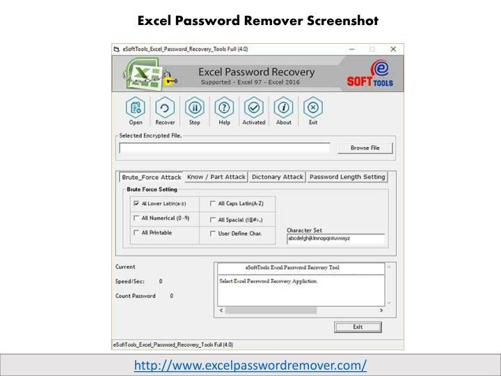 Excel Password Remover Screenshot