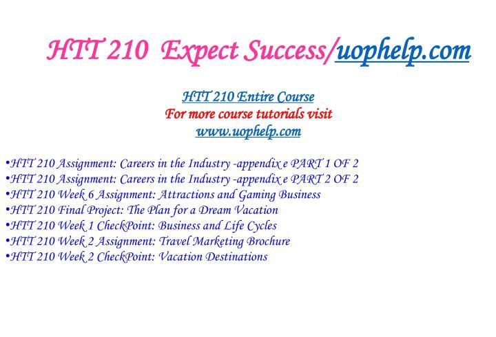 Htt 210 expect success uophelp com2