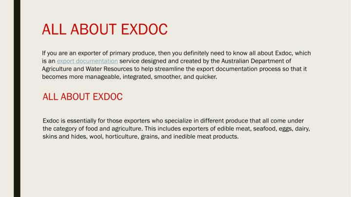 All about exdoc