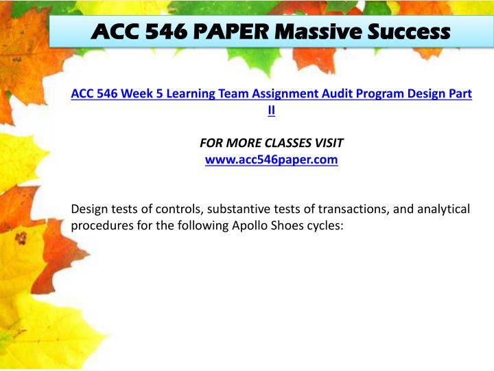 ACC 546 PAPER Massive Success