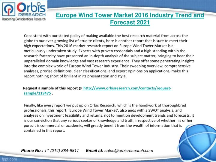 Europe wind tower market 2016 industry trend and forecast 20211
