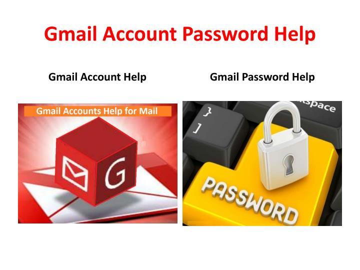 Gmail account password help