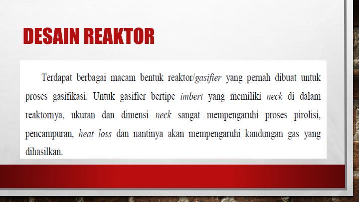 Desain reaktor