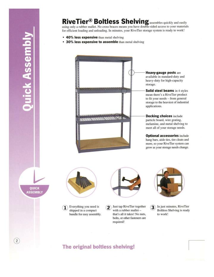 Rivetier boltless shelving all that you need to know