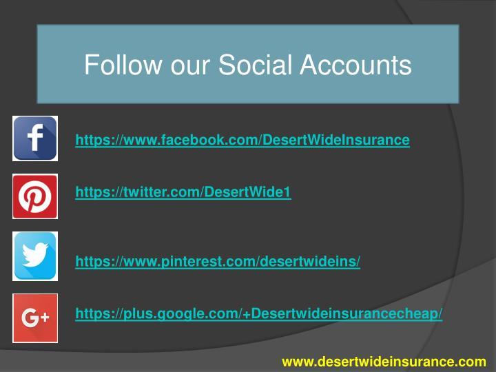 Follow our Social Accounts