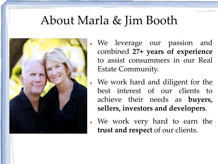 About marla jim booth