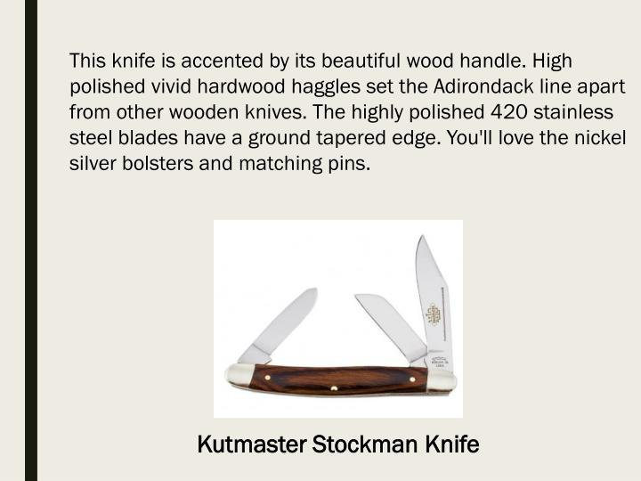 This knife is accented by its beautiful wood handle. High polished vivid hardwood