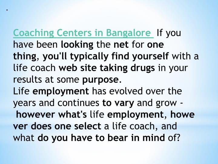 Coaching centers in bangalore 7429163