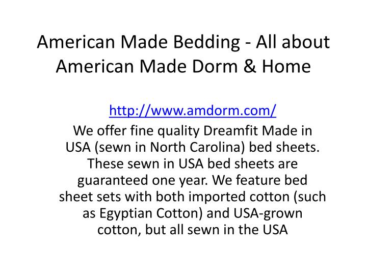 American made bedding all about american made dorm home